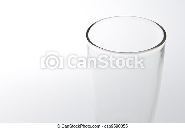 Glass with water on white background - csp9590055