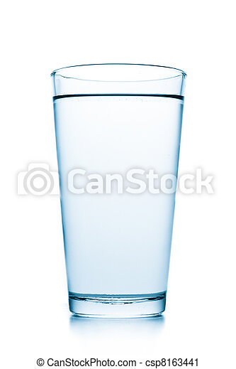 glass with water - csp8163441