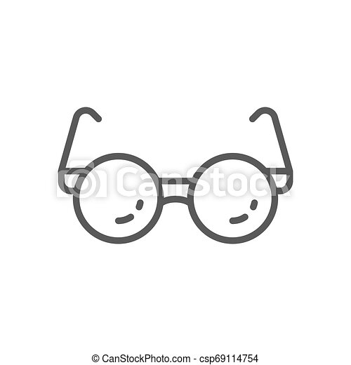 Glasses for blind line icon. - csp69114754