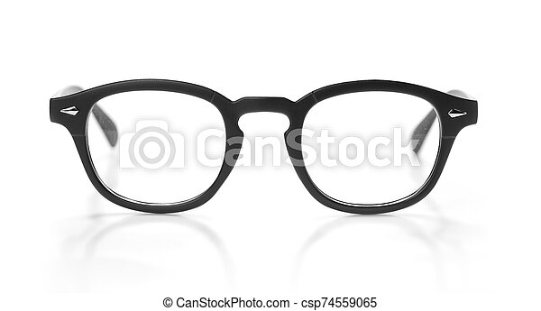 Glasses isolated on a white background - csp74559065