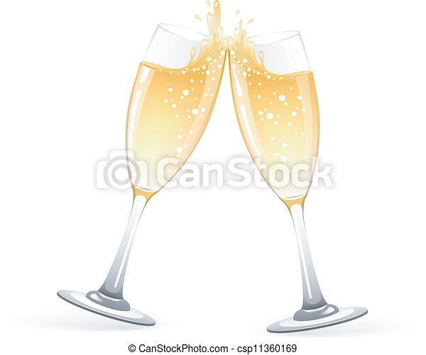 Glasses of champagne - csp11360169