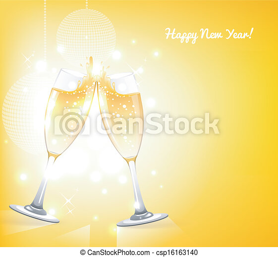 Glasses of champagne - csp16163140