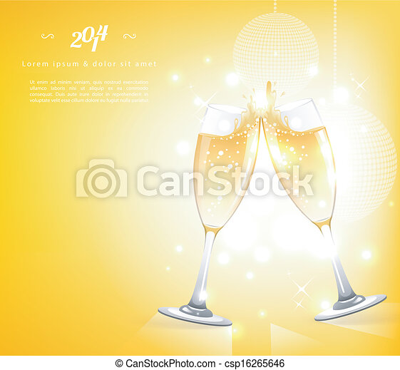 Glasses of champagne - csp16265646
