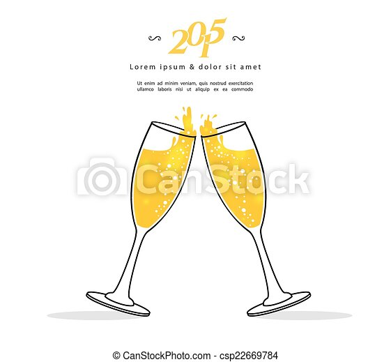 Glasses of champagne - csp22669784