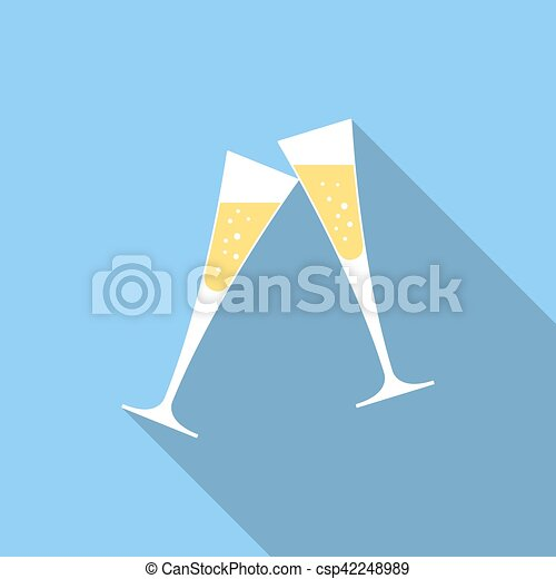 Glasses of champagne - csp42248989