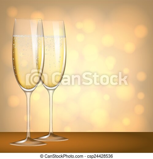 glasses of champagne - csp24428536