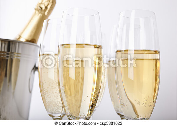 Glasses of champagne - csp5381022