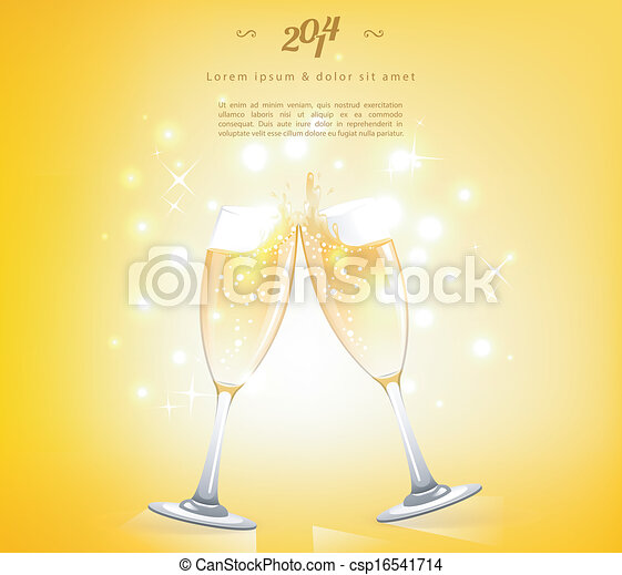 Glasses of champagne - csp16541714