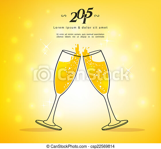 Glasses of champagne - csp22569814