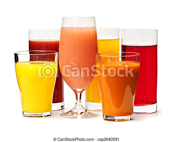 Glasses of various juices - csp2640591