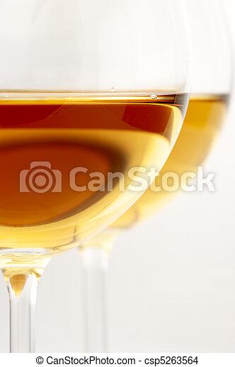 Glasses of wine close-up - csp5263564
