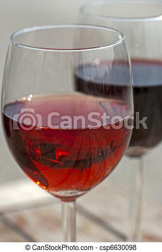 Glasses of wine - csp6630098
