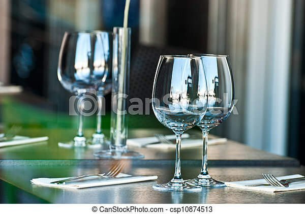 Glasses on the table. - csp10874513