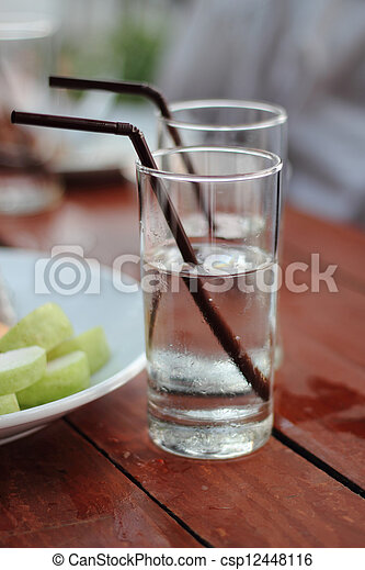 Glasses on the table - csp12448116