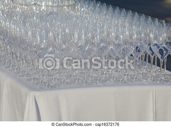 Glasses on the table - csp16372176