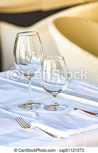 Glasses on the table - csp51121073