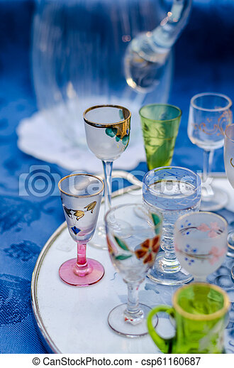 glasses on the table - csp61160687