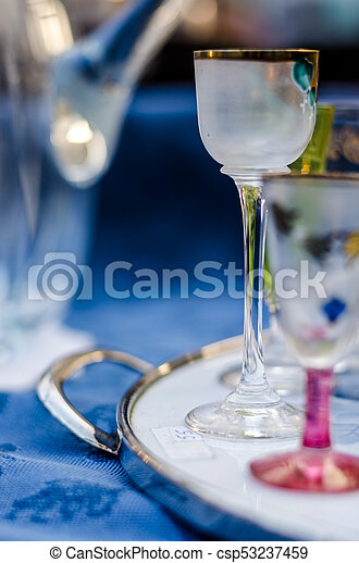 glasses on the table - csp53237459