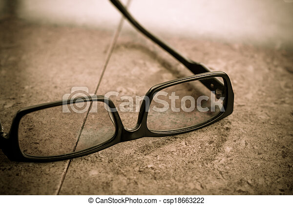 Glasses on the table - csp18663222