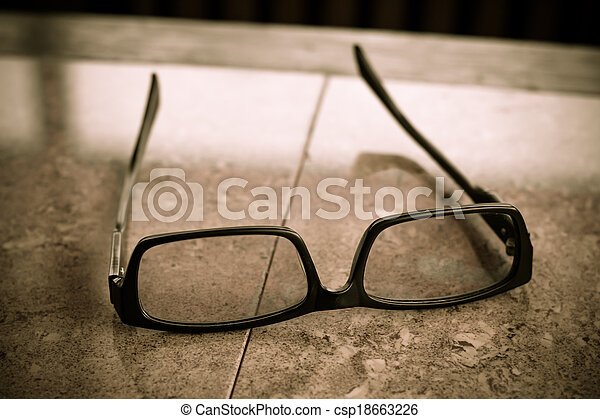 Glasses on the table - csp18663226