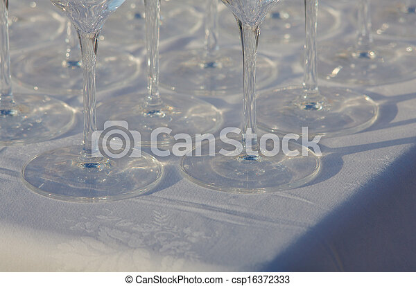 Glasses on the table - csp16372333