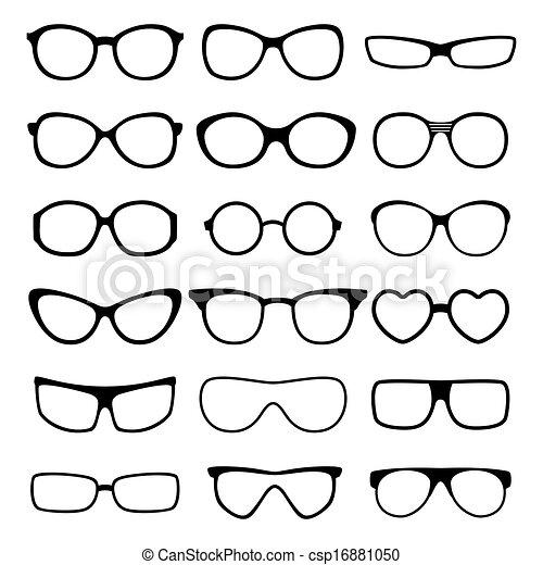 glasses vector set. - csp16881050