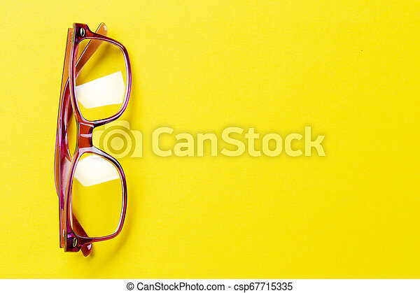 glasses with diopters on the table - csp67715335
