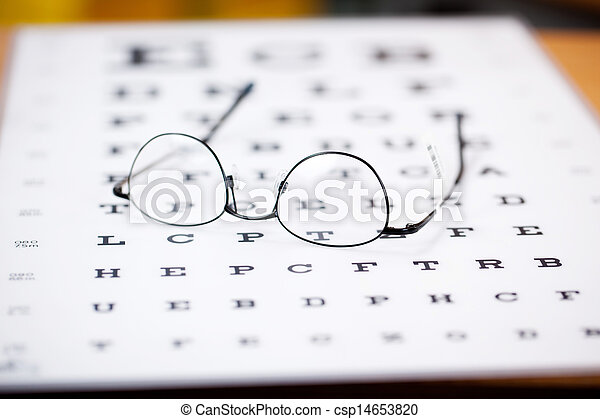 glasses with thin frame - csp14653820