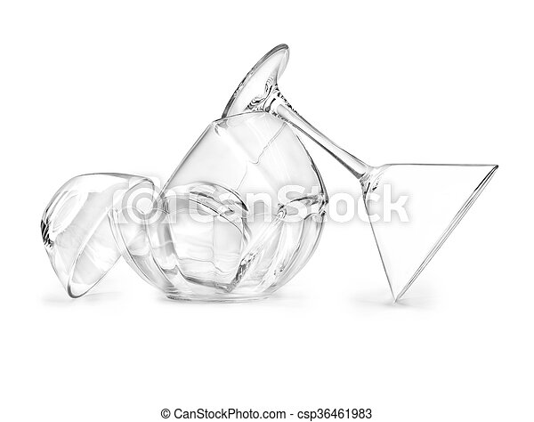 Glassware on a white background - csp36461983
