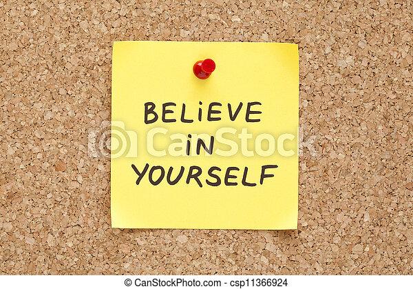 Sticky, glaub an dich - csp11366924