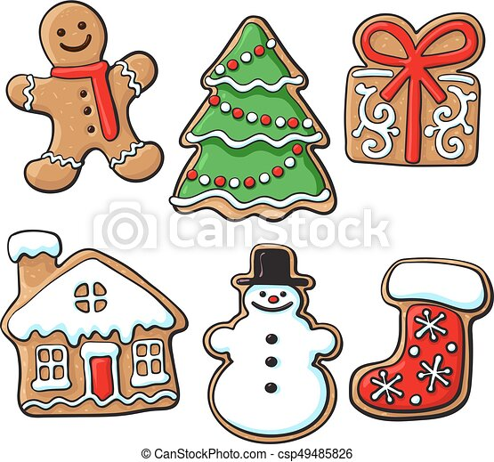 Glazed Homemade Christmas Gingerbread Cookies