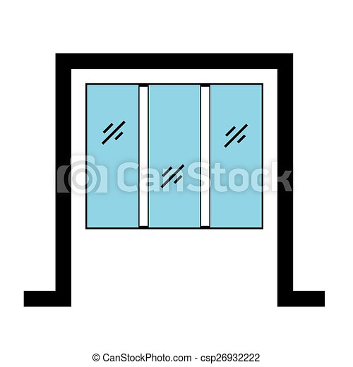 glazed window with frame 2d graphic vector illustration search rh canstockphoto com