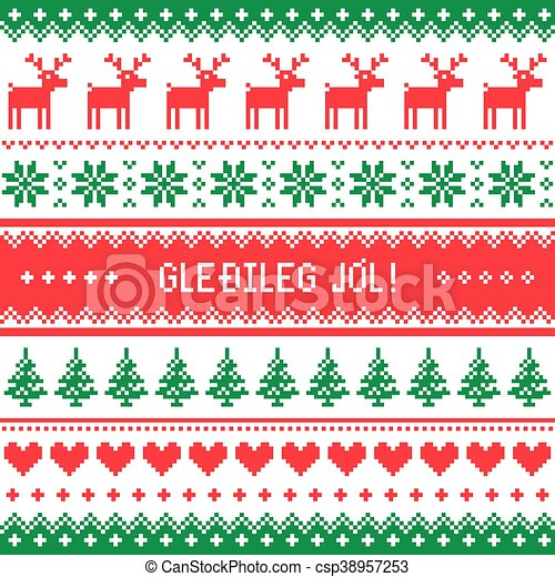 gledileg jol merry christmas csp38957253 - Merry Christmas In Icelandic