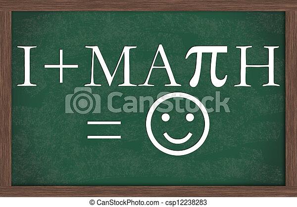 gleichung, liebe, tafel, mathe - csp12238283