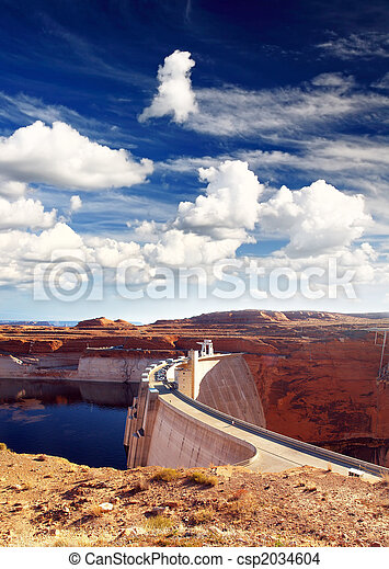 Glen Canyon Dam and Lake Powell - csp2034604