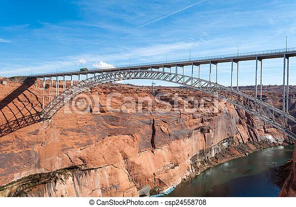 Glen Canyon Dam Bridge - csp24558708