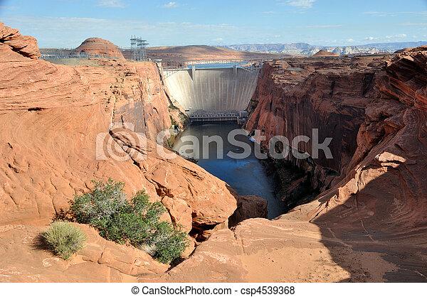 Glen Canyon Dam on the Colorado River - csp4539368