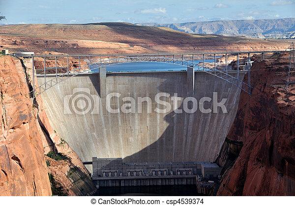 Glen Canyon Dam on the Colorado River - csp4539374