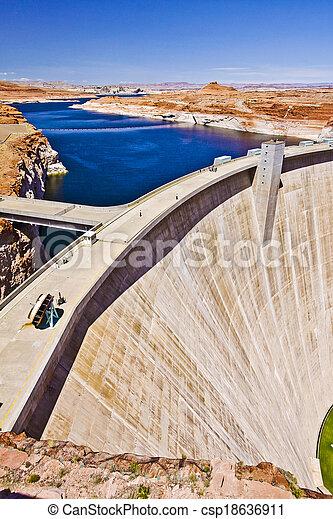 Glen canyon Hydro Electric Dam and Lake Powell - csp18636911