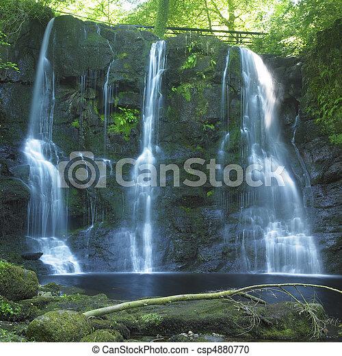 Glenariff Waterfalls, County Antrim, Northern Ireland - csp4880770