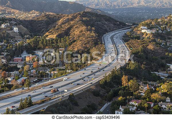 Glendale Freeway in Los Angeles County California - csp53439496