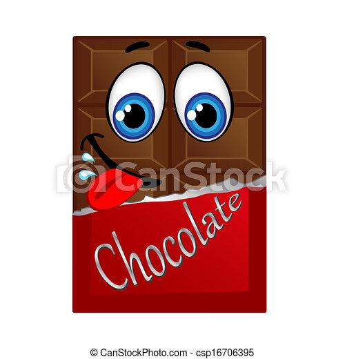 glimlachen, eyes, melkchocolade - csp16706395