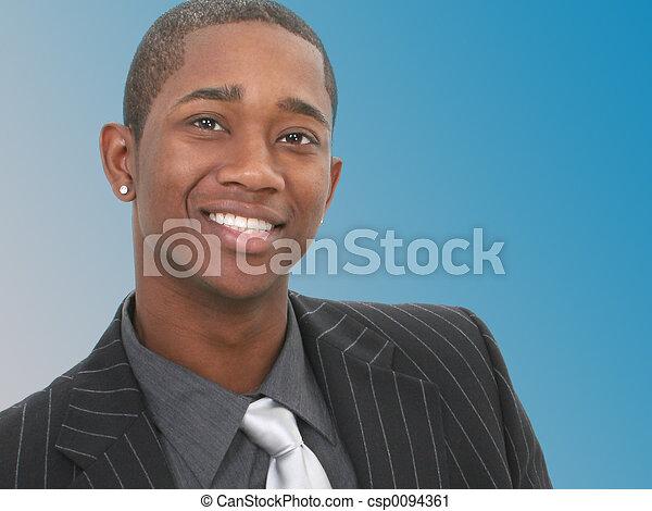 glimlachen, zakenmens  - csp0094361
