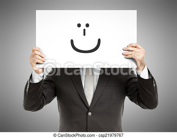 glimlachen, zakenmens  - csp21979767