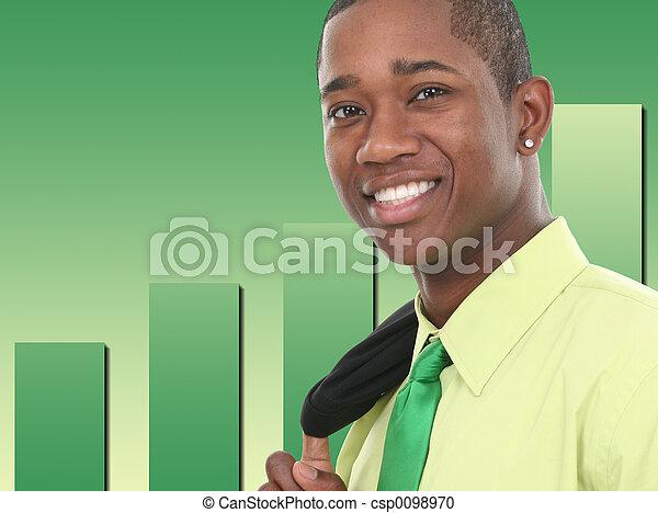 glimlachen, zakenmens  - csp0098970
