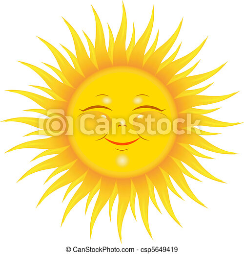 glimlachende zon - csp5649419