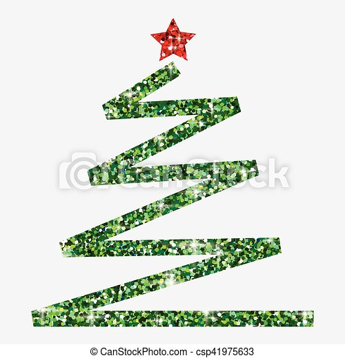 glitter simple christmas tree in vector format