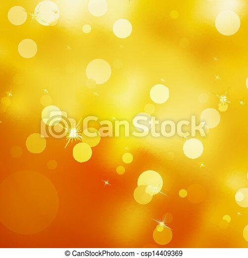 Glittery gold Christmas background. EPS 10 - csp14409369