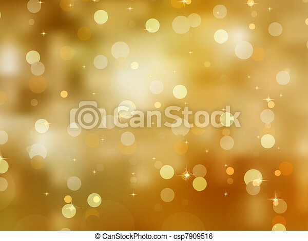 Glittery gold Christmas background. EPS 8 - csp7909516