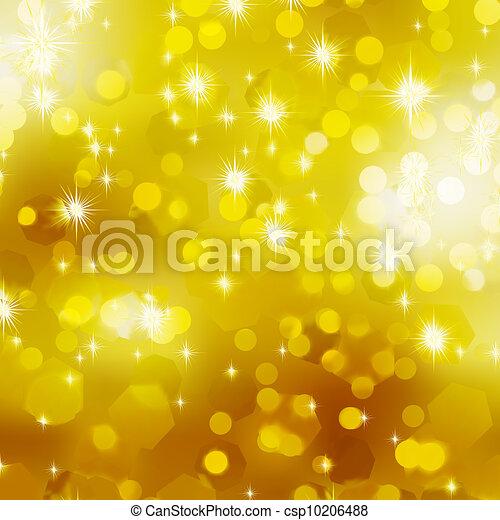 Glittery gold Christmas background. EPS 8 - csp10206488